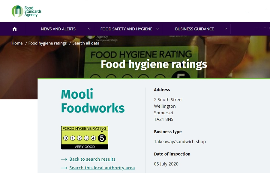 Mooli Gets Five Stars